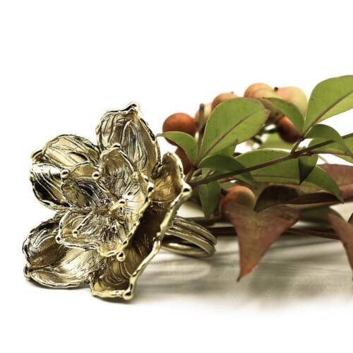 anello fiore oro